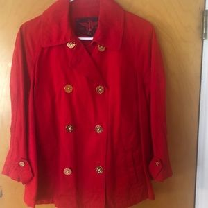 EUC Ralph Lauren red and gold jacket 2x